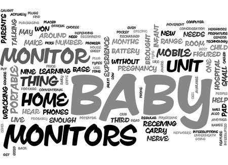 BABY MONITOR TECHNOLOGY TEXT WORD CLOUD CONCEPT