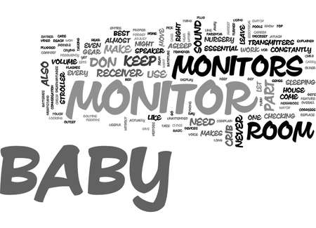 BABY MONITORS EXPLAINED TEXT WORD CLOUD CONCEPT