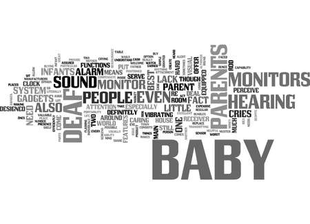 DEFF PEOPLE TEXT WORD CLOUD CONCEPT의 아기 모니터