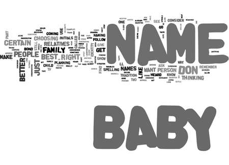 BABY NAME TEXT WORD CLOUD CONCEPT