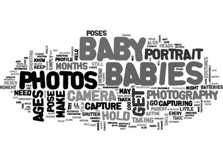 BABY-PORTRAIT-FOTOGRAFIE-TEXT-WORT-WOLKKONZEPT Standard-Bild - 79497336
