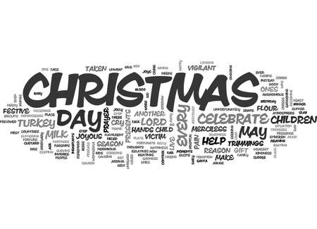 BABY S CHRISTMAS CRY LET ME LIVE ANOTHER DAY TEXT WORD CLOUD CONCEPT Illusztráció