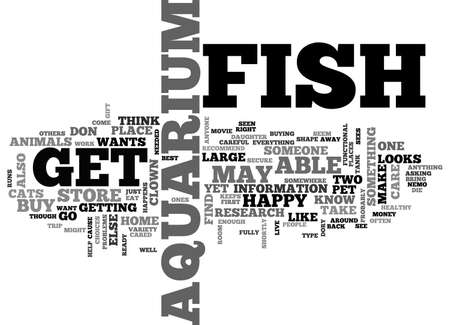 AQUARIUM FISH MAGAZINE TEXT WORD CLOUD CONCEPT Ilustração