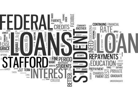 ARE SOME STUDENT LOANS BETTER THAN OTHERS TEXT WORD CLOUD CONCEPT