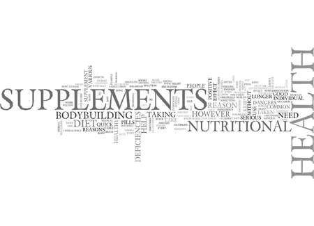 ARE THE HEALTH SUPPLEMENTS SAFE TEXT WORD CLOUD CONCEPT Illustration