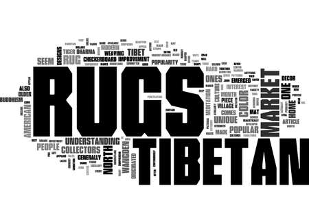 ARE TIBETAN RUGS POPULAR TEXT WORD CLOUD CONCEPT Ilustração