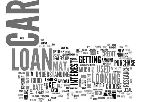 ARE YOU IN THE MARKET FOR A CAR LOAN TEXT WORD CLOUD CONCEPT