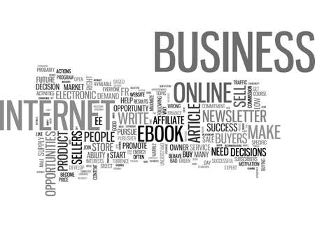ARE YOU IN THE RIGHT ONLINE BUSINESS TEXT WORD CLOUD CONCEPT