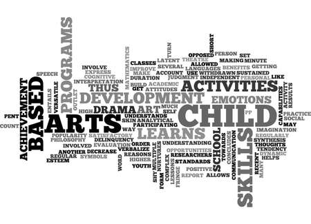 ART BASED ACTIVITIES TEXT WORD CLOUD CONCEPT Illustration