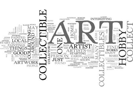 ART COLLECTIBLE HOBBY TEXT WORD CLOUD CONCEPT Иллюстрация