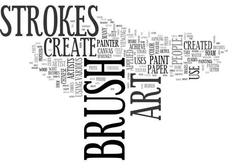ART CREATED BY CREATIVE BRUSH STROKES TEXT WORD CLOUD CONCEPT