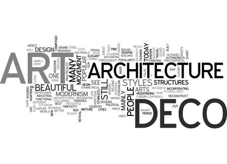 ART DECO ARCHITECTURE TEXTE WORD CLOUD CONCEPT Banque d'images - 79497159