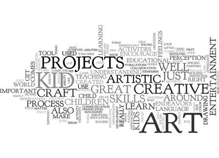 ART FOR KID TEXT WORD CLOUD CONCEPT