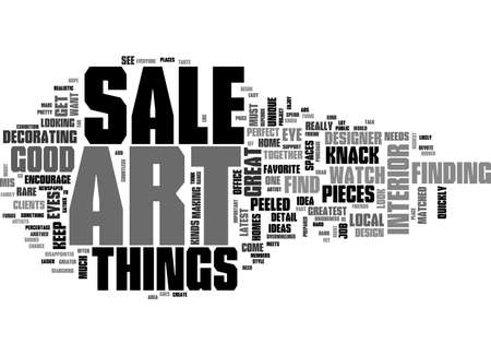 ART FOR SALE KEEP AN EYE OUT TEXT WORD CLOUD CONCEPT Illustration