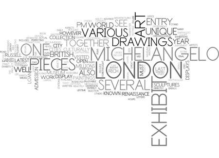 ART IN LONDON TEXT WORD CLOUD CONCEPT