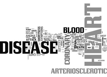ARTERIOSCLEROTIC HEART DISEASE TEXT WORD CLOUD CONCEPT Illustration
