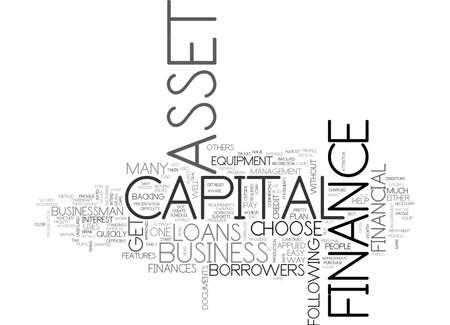 ASSET CAPITAL FINANCE WHAT ELSE DO YOU WANT TEXT WORD CLOUD CONCEPT
