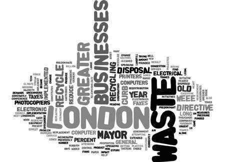 ASSET DISPOSAL IN GREATER LONDON TEXT WORD CLOUD CONCEPT