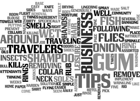 onion rings: ASSORTED TIPS FOR BUSINESS TRAVELERS TEXT WORD CLOUD CONCEPT Illustration