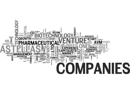 finding: ASTELLAS VENTURE CAPITAL TEXT WORD CLOUD CONCEPT