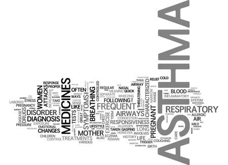 ASTHMA A RESPIRATORY DISORDER TEXT WORD CLOUD CONCEPT