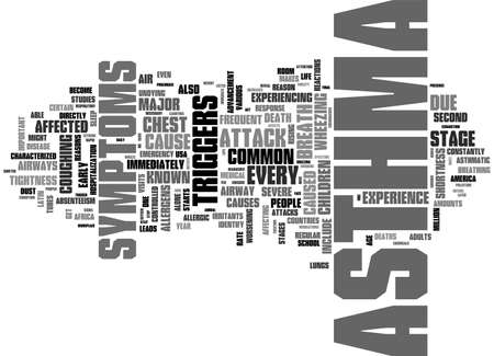 absenteeism: ASTHMA DISCUSSED TEXT WORD CLOUD CONCEPT