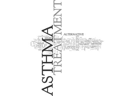 ASTHMA TREATMENT RELIEFS DID YOU KNOW THERE ARE OTHER WAYS OF HELP TEXT WORD CLOUD CONCEPT Illustration
