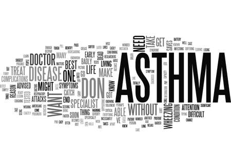 asthmatic: ASTHMATIC BRONCHITIS TEXT WORD CLOUD CONCEPT Illustration