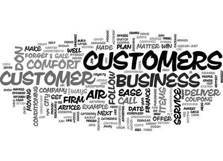ASTONISH YOUR CUSTOMERS WITH THESE CUSTOMER SERVICE TIPS TEXT WORD CLOUD CONCEPT Illustration