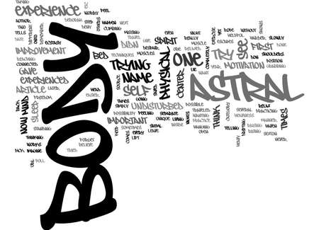 astral: ASTRAL TRAVEL TEXT WORD CLOUD CONCEPT Illustration