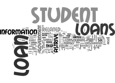 stafford: ASTRIVE STUDENT LOANS USEFUL INFO TEXT WORD CLOUD CONCEPT Illustration
