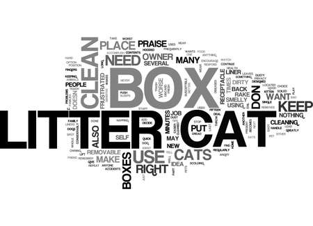AT LAST CAT LITTER BOXES DON T HAVE TO BE EVIL TEXT WORD CLOUD CONCEPT