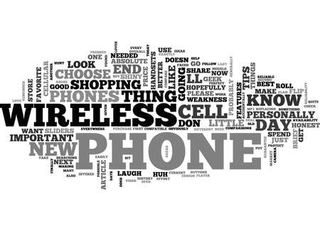 AT T WIRELESS PHONES HOW TO CHOOSE THE BEST AT T WIRELESS CELL PHONE TEXT WORD CLOUD CONCEPT Illusztráció