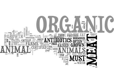 ATHE HEALTH BENEFITS OF ORGANIC MEAT TEXT WORD CLOUD CONCEPT