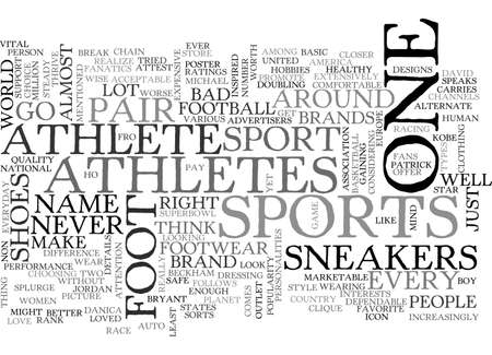 ATHLETES FOOT SNEAKERS IT IS TEXT WORD CLOUD CONCEPT Illustration