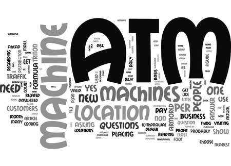 ATM MACHINES DOES YOUR BUSINESS NEED ONE TEXT WORD CLOUD CONCEPT