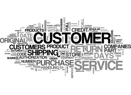 ATT CUSTOMER SERVICE TEXT WORD CLOUD CONCEPT Illustration
