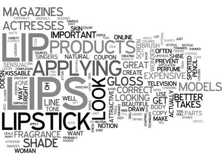 sported: ATTAIN KISSABLE LIPS TEXT WORD CLOUD CONCEPT Illustration