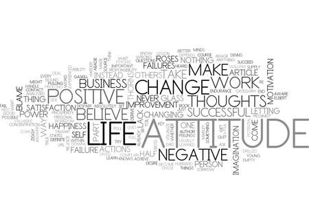 ATTITUDE IN BUSINESS TEXT WORD CLOUD CONCEPT Illustration