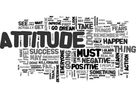 態度と感謝のテキスト単語雲概念
