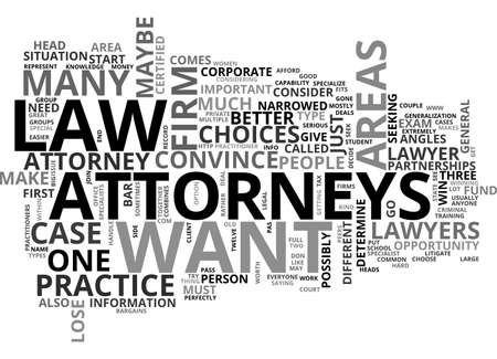 ATTORNEYS TEXT WORD CLOUD CONCEPT Illustration