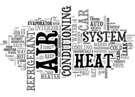 depend: AUTO HVAC TEXT WORD CLOUD CONCEPT