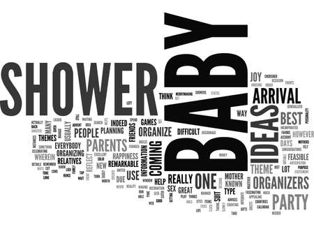 BABY SHOWER IDEAS TEXT WORD CLOUD CONCEPT Illustration