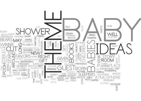 BABY SHOWER THEME THIS IS ABOUT BABIES RIGHT TEXT WORD CLOUD CONCEPT