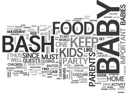 BABYBASH TEXT WORD CLOUD CONCEPT Ilustração