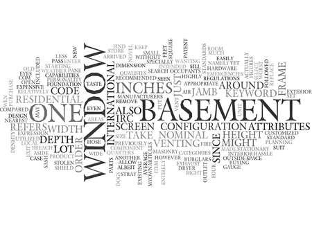 BASEMENT WINDOW TEXT WORD CLOUD CONCEPT Ilustrace