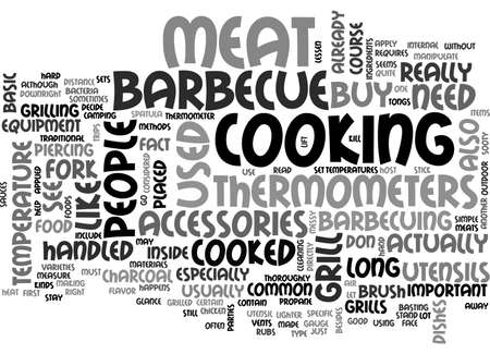 BASIC BARBECUE ACCESSORIES TEXT WORD CLOUD CONCEPT