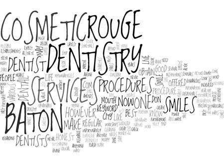 baton rouge: BATON ROUGE DENTISTRY TEXT WORD CLOUD CONCEPT Illustration
