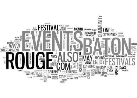 baton rouge: BATON ROUGE EVENTS TEXT WORD CLOUD CONCEPT