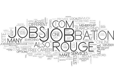 listings: BATON ROUGE JOBS TEXT WORD CLOUD CONCEPT